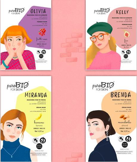 For Skin: la nuova linea di maschere viso biologiche  di puroBIO