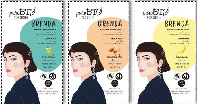 La Maschera Brenda è disponibile in 3 profumazioni