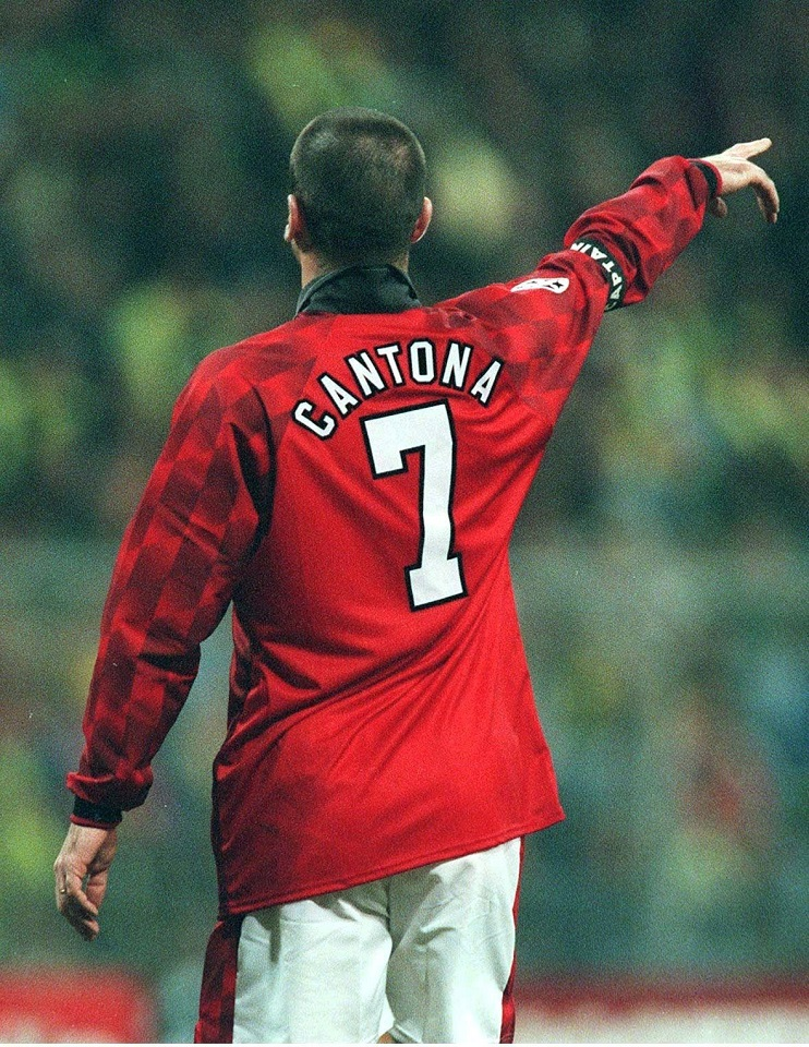 These modern manchester united shirts are printed with the cantona number 7 and signed by eric in black permanent marker pen. 7 of the best Premier League number 7s of all time