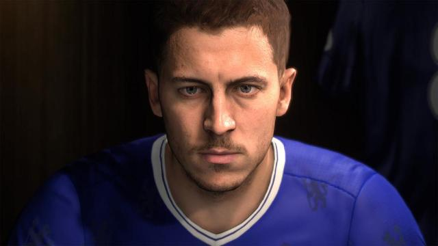 The Frostbite Engine did a good job recreating Eden Hazard in FIFA 17 – but it was still some way off Battlefield 1 quality