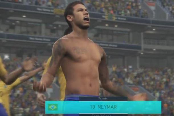 PES 2018's shirtless celebration gets around the technical challenge with clever camera work