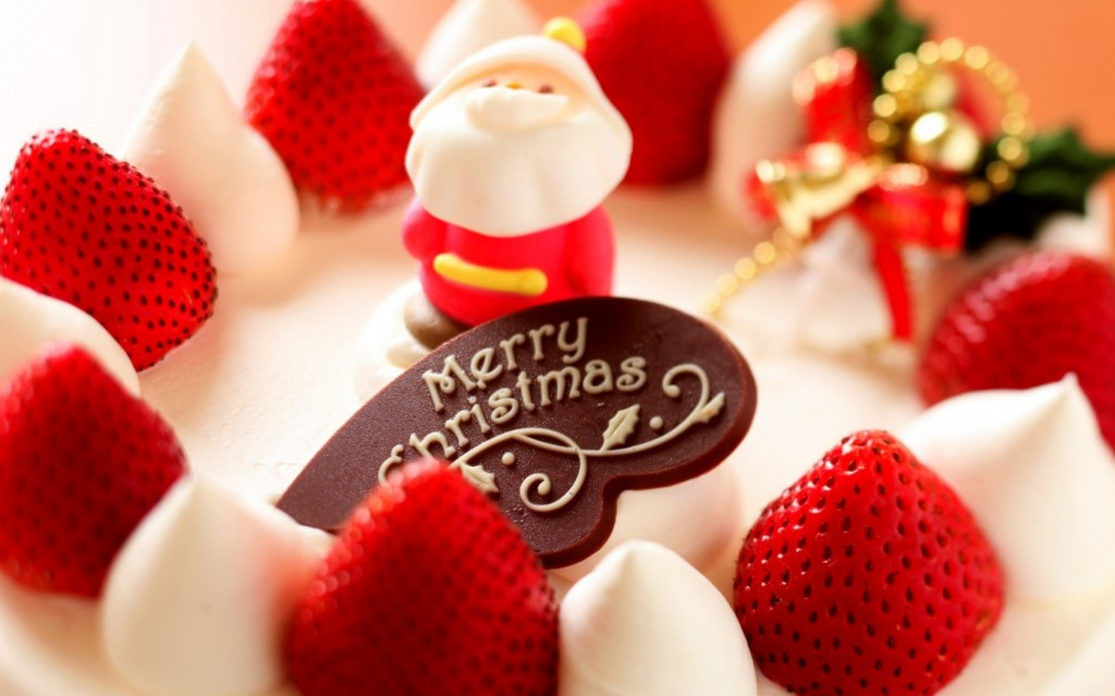 Happy Christmas Celebration Cake With Santa - HD Pictures