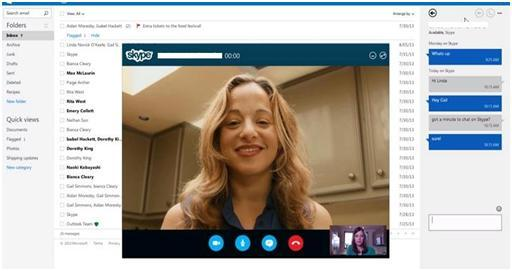 HD quality skype call from Outlook