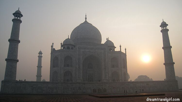 Taj Mahal during the sunrise