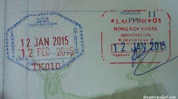 Border crossing Laos – Cambodia
