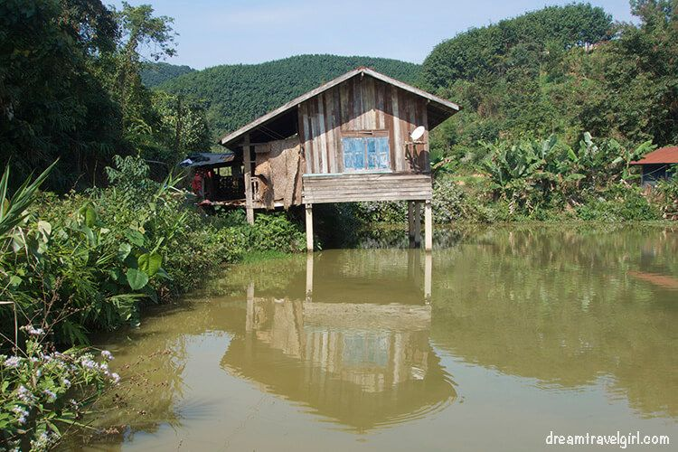 Laos_Luang-Namtha_wooden-house-water