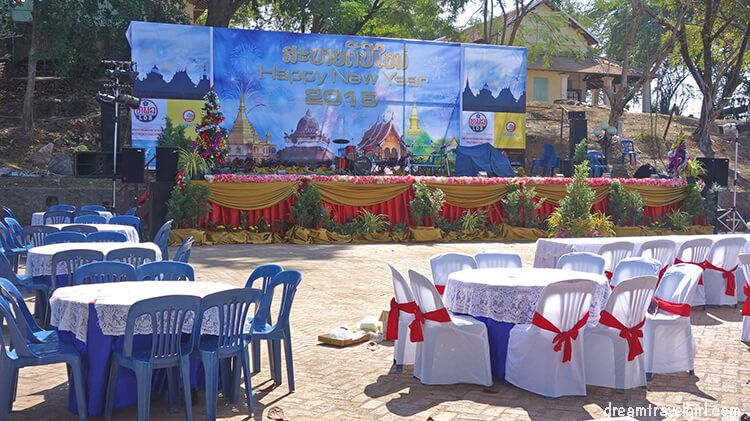 I spent Christmas day in Muang Ngoi, and celebrated the new year in Luang Prabang