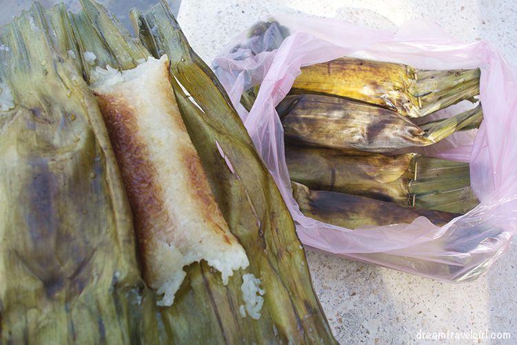 Cambodia_Kampot_grilled-rice-banana-leaf