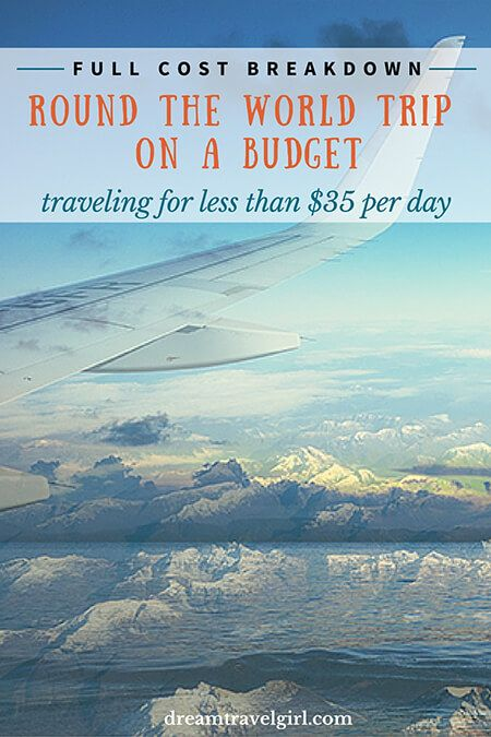 Round the world trip on a budget: full breakdown cost