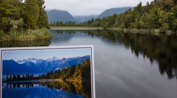 Fox glacier and lake Matheson: do not believe in postcards