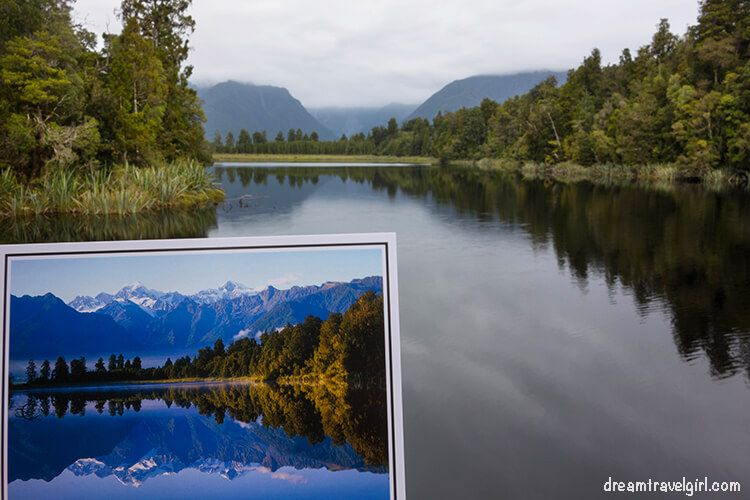 Lake Matheson: postcard and reality