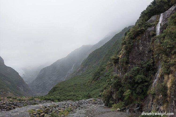 The glacier valley