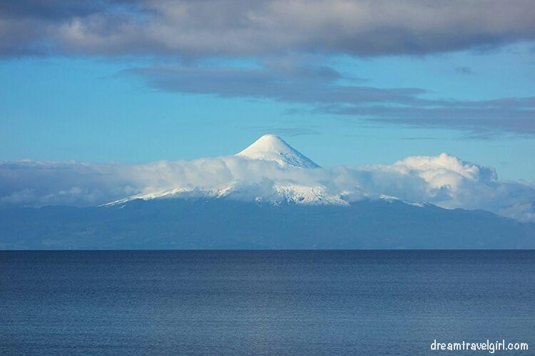 Volcano Osorno and lake Llanquihue