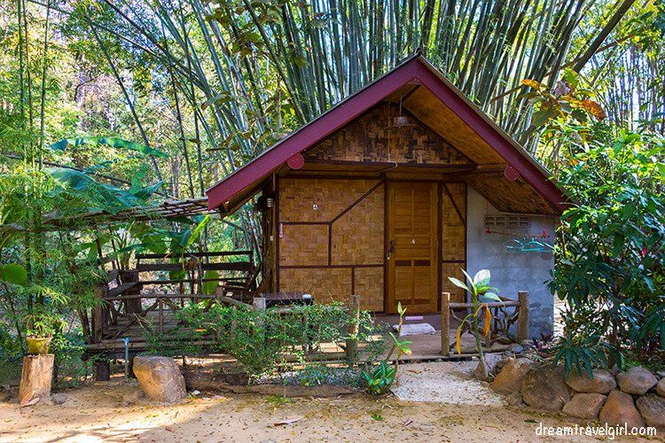 Bamboo bungalow in the farm stay