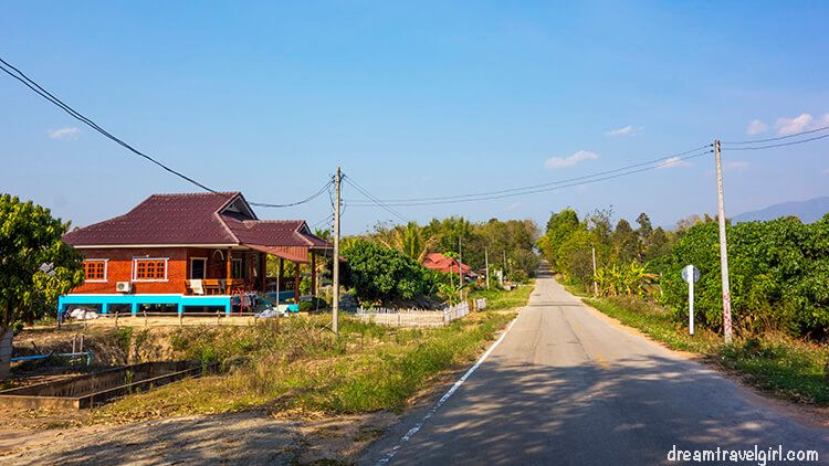 Road near Phrao, no orchids in sight