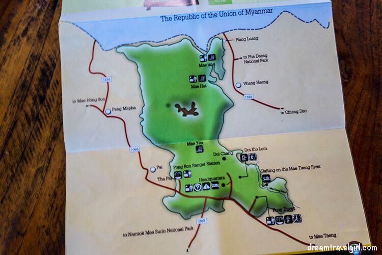 Huai Nam Dang National Park map