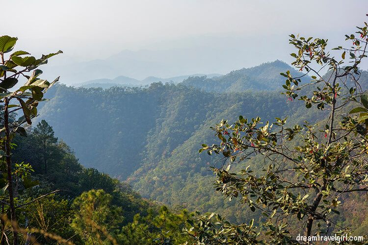 Mountains in northern Thailand and Myanmar