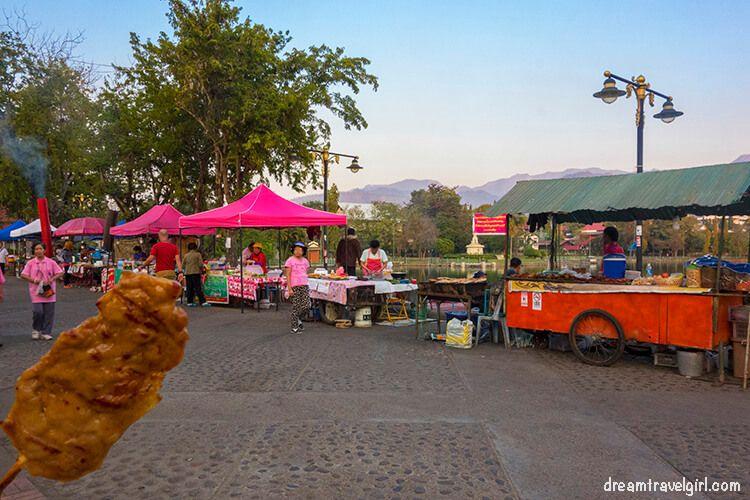 Mae Hong Son, street food and street food stalls