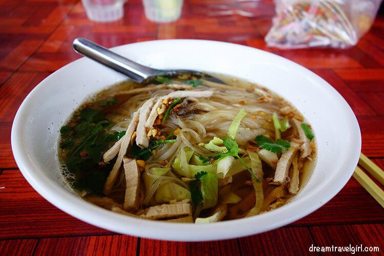 Noodle soup, local restaurant in Soppong