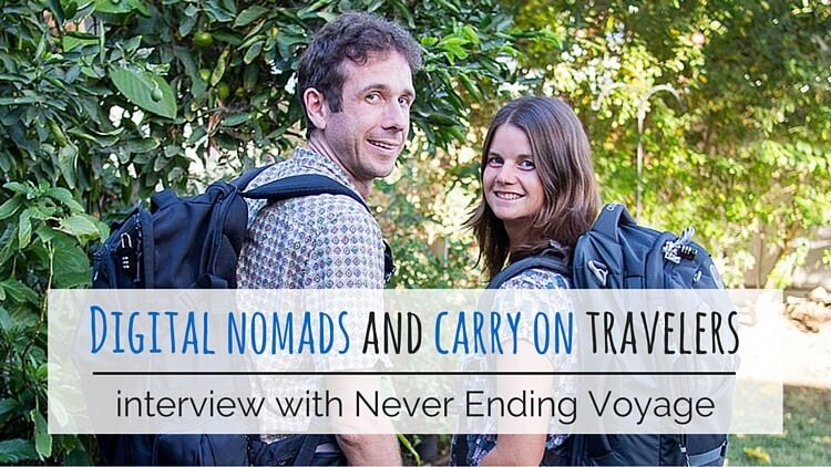 Never Ending Voyage, digital nomads and carry on travelers