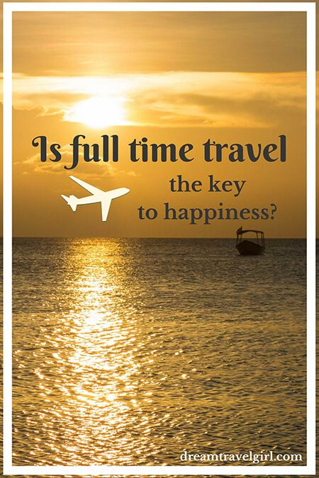 Full time travel: the key to happiness?