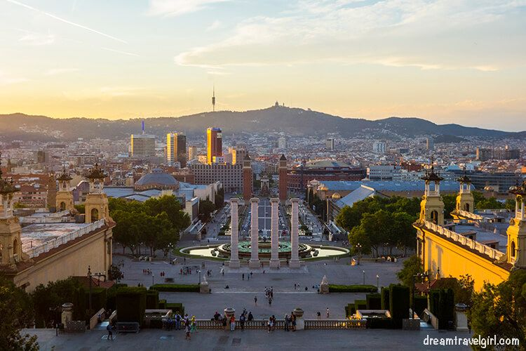 Views of Barcelona from Palau Nacional