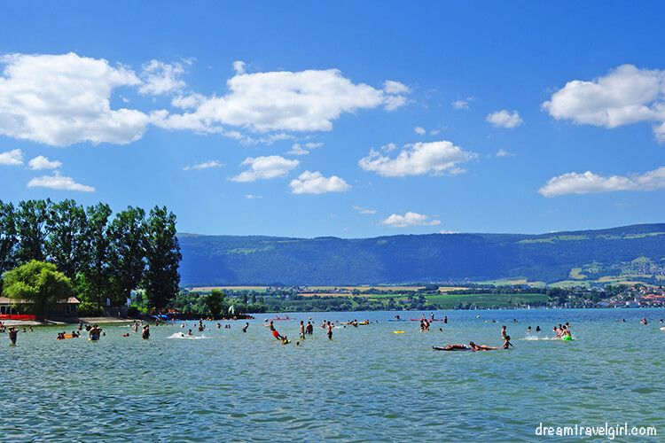 The small beach in Yverdon-les-bains