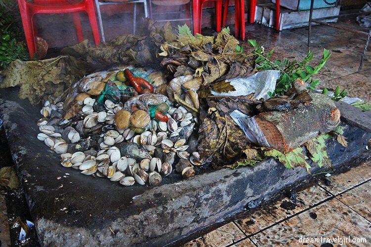 Curanto al hoyo: it's cooked inside a hole