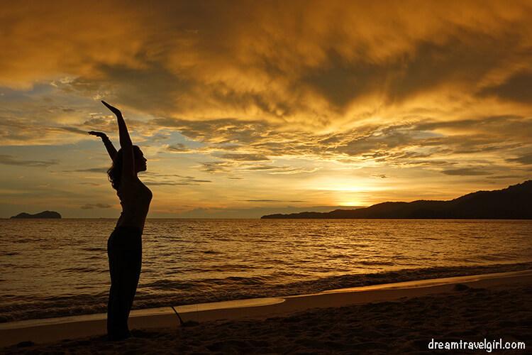Another sunset at Teluk Kumbar, and me