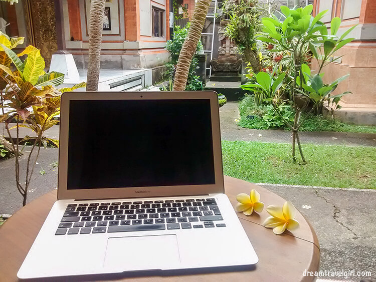 Working in Ubud, Bali