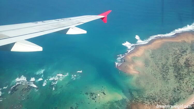 Landing in Bali, Indonesia