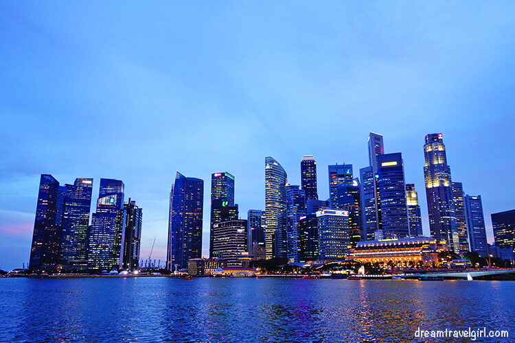Marina Bay in the evening