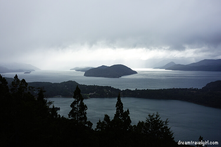Bariloche Argentina: views from Cerro Campanario on a rainy day