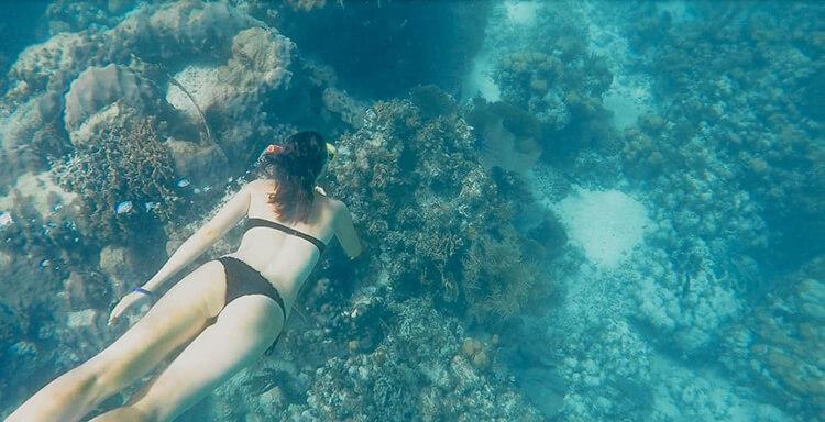 Phoebe snorkeling