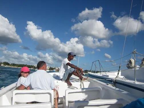 Motorboat ride in Saona Island, Dominican Republic