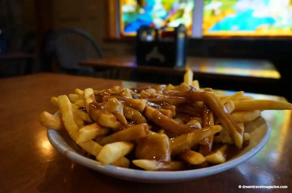 Hot Fries and Gravy McKeck's Tavern and Bar Haliburton Ontario