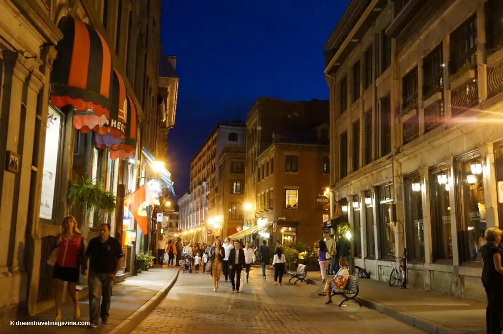 City streets at night essay