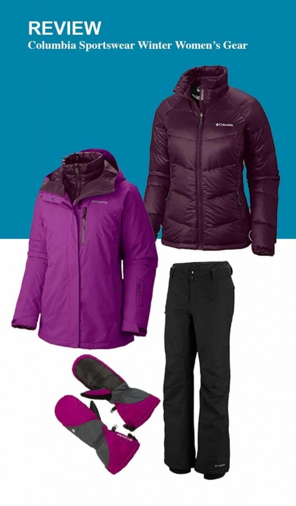 Columbia Womens Winter Gear Review. 3-in-1 of Winter coat, Bugaboo snow pants, boots and mittens.
