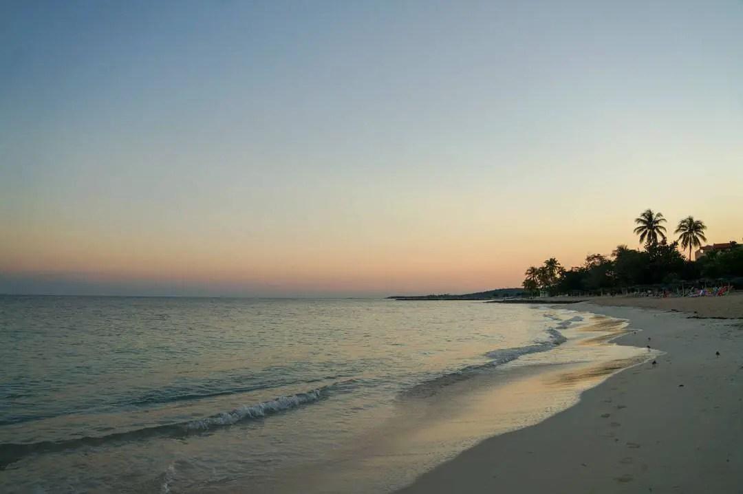 Sunrise at the beach at Brisas Gaurdalavaca Resort Cuba