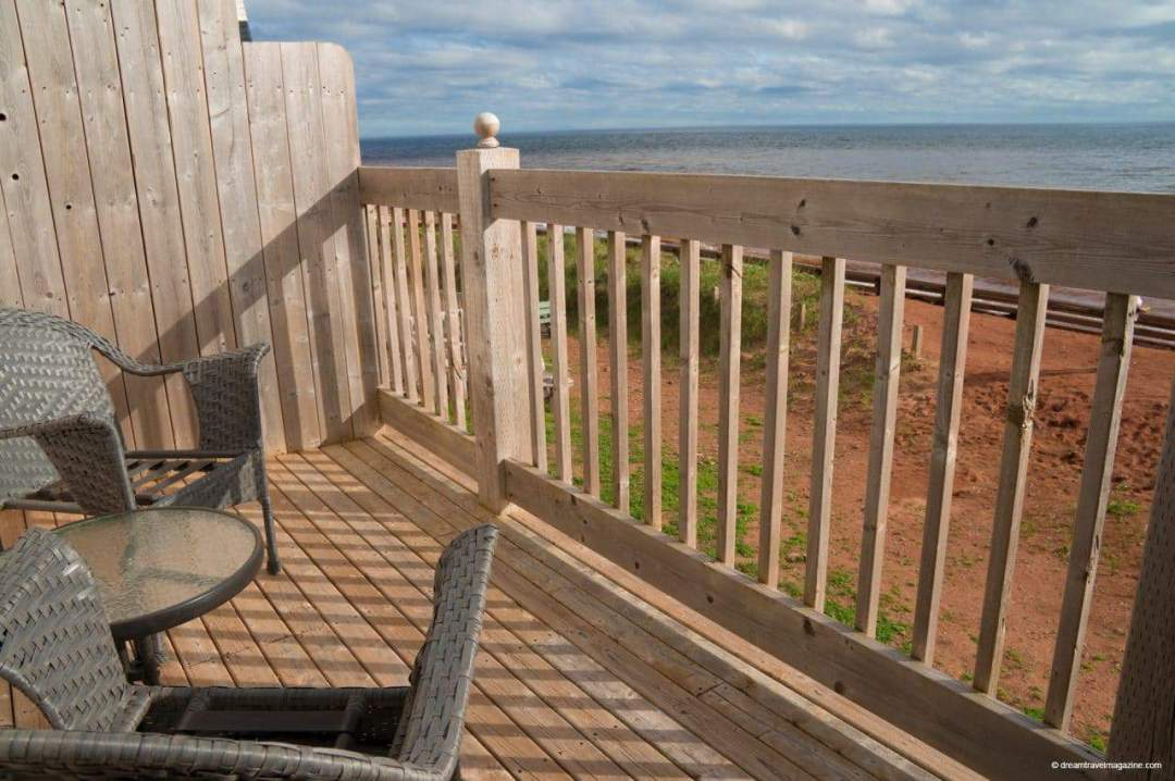 Patio Review West Point Lighthouse Inn PEI