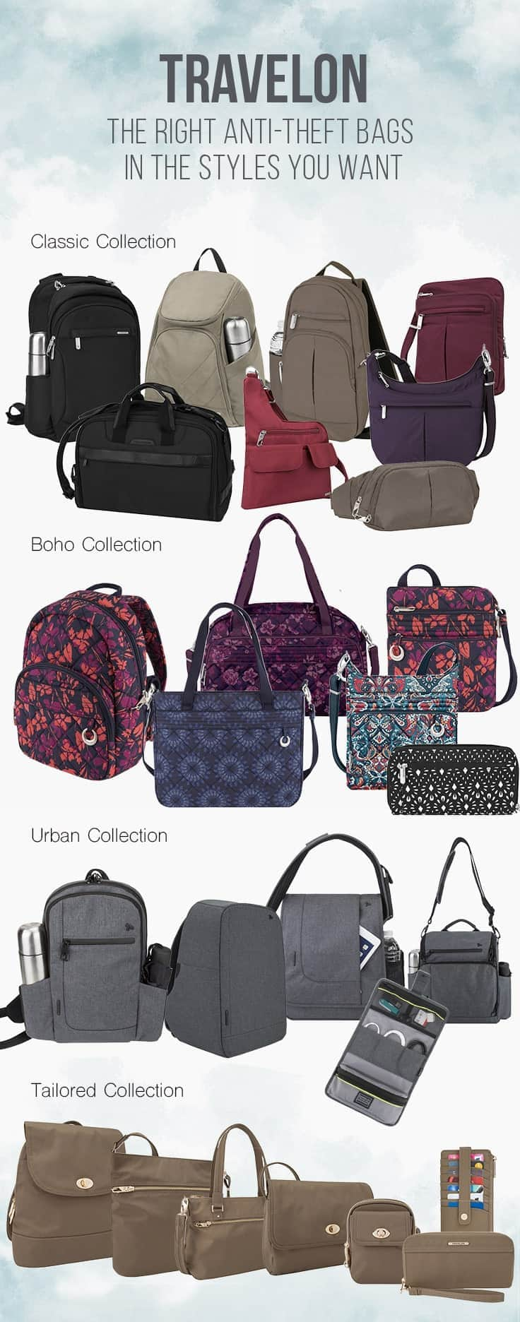 Fashionable Anti-Theft Bags from Travelon in Styles you Want