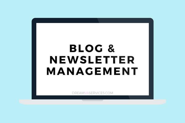 Blog & Newsletter Management | Dream VA Services