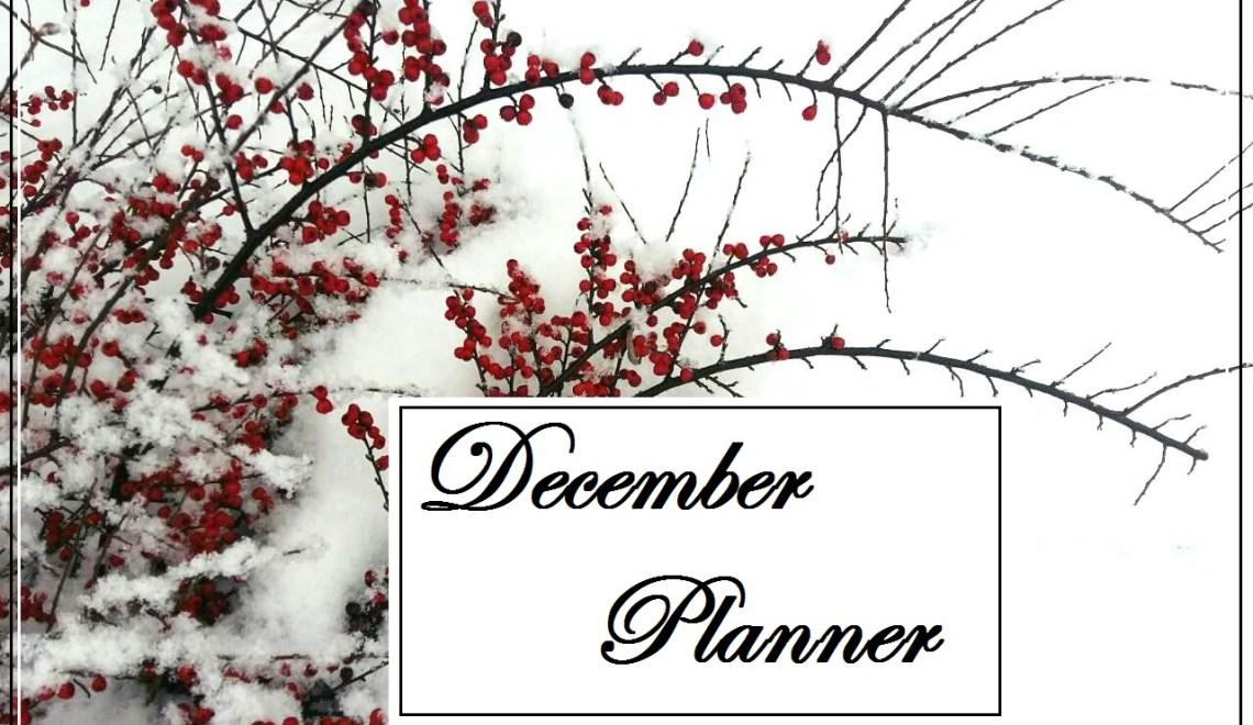 Планнер и календарь на декабрь 2018