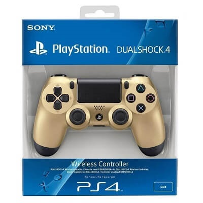 Ps4 Dual Shock Wireles Controler Gold