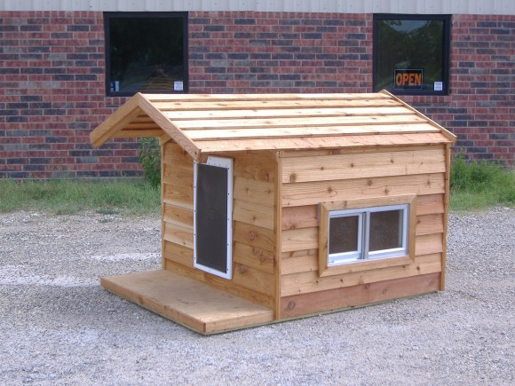 48x66x46 Custom Large Insulated Heated Dog House with Porch Open Top 2 Windows Hound Heater Door $985