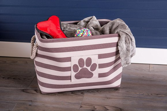 Dog Toy Bin - Puppy and Dog Supplies Bones and Toys