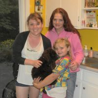 """Labradoodle Puppy """"Maybelle"""" at home with her new Mommy"""