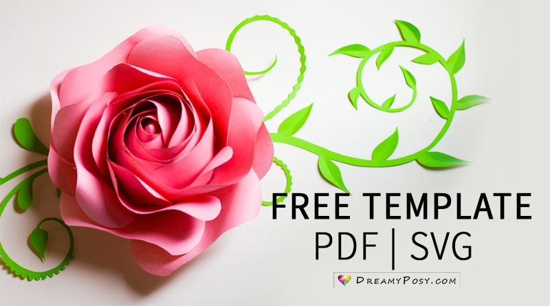 Download Flower templates, free PDF, SVG, PNG files, super easy ...