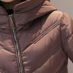 Stand collar hooded womens coat, parka, slim long and warm thicken casaco cotton winter jacket for women