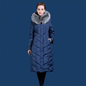 Women down jacket lengthen the thickening.